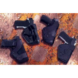 Uncle Mike's #18 Pro-3 Tactical Thigh Auto Duty Holsters Pro-3 S&W Sub-Compact 9mm/.40/.45 3.5-4""