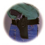 """Uncle Mike's Sidekick Hip Holster for 7"""" - 8-1/2"""" Barrel medium and large double action revolvers, tie-down loop included in Black Right Hand"""