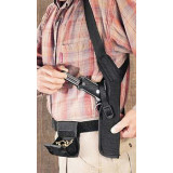 """Uncle Mike's Sidekick Shoulder Holsters for Scoped Guns 3  Black Right Hand - Fits Double Action and 4-5/8"""" to 5.5""""Barrel Single Action Revolvers"""