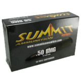Summit Centerfire Rifle Ammunition with Once-Fired Brass .50 BMG 649 gr Ball  - 10/box