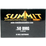 Summit Centerfire Rifle Ammunition with Once-Fired Brass .50 BMG 649 gr Silver Tip  - 10/box