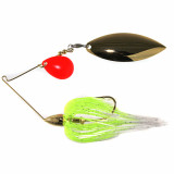 War Eagle Gold Frame Tandem Colorado Double Spinner Lure 1/2 oz - Hot White Chartreuse RK