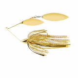 War Eagle Gold Frame Double Willow Spinnerbait Lure 1/2 oz - Gold Shiner