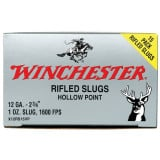 "Winchester Super-X Slug 12 ga 2 3/4""  1 oz Slug 1600 fps - 15/box"