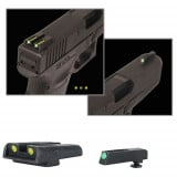 Truglo TFO Tritium/Fiber-Optic Day/Night Sights Fits Glock 17 / 17L, 19, 22, 23, 24, 26, 27, 33, 34, 35, 38, and 39 - Front Green/Rear Yellow