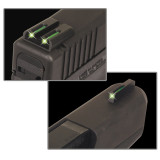 Truglo TFO Tritium/Fiber-Optic Day/Night Sights Fit Glock 20, 21, 25, 28, 29, 30, 31, 32, 37, 40, and 41 - Front Green/Rear Green