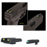 Truglo TFO Tritium/Fiber-Optic Day/Night Sights Fits Glock 20, 21, 25, 28, 29, 30, 31, 32, 37, 40, and 41- Front Green/Rear Yellow