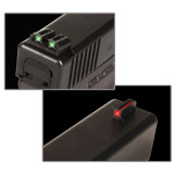 Truglo S&W M&P Fiber Optic Handgun Sight Set Front Red Rear Green