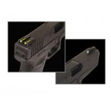 Truglo TFO Tritium/Fiber-Optic Day/Night Sights Fits Sig #8 Front/#8 Rear - Front Green/Rear Yellow