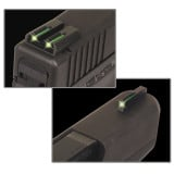 """Truglo TFO Tritium/Fiber-Optic TFO Day/Night Sights Fit Springfield XD, XDM (excluding 5.25"""" Comp Series) and XDS - Front Green/Rear Green"""