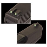 Truglo Tritium Sights Fits S&W M&P (including SHIELD & .22 models, excluding .22 Compact / C.O.R.E. models), SD9 and SD40 (excluding VE models) - Front Green/Rear Green