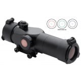 Truglo Triton 30mm Tri-Color Tactical Red Dot Sight - 1x30mm 3 MOA Center Dot - Black