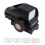 Truglo Tru-Brite Multi-Reticle Dual Color Open Red Dot Sight - 24x34mm Window  Multi-Reticle - Black