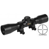 "Truglo Compact Rimfire & Shotgun Rifle Scope - 4x32mm Diamond Ballistic 22.5' 5"" Black"