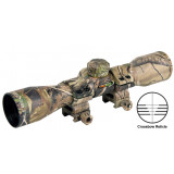 Truglo 4x32mm Compact Crossbow Scope with Weaver Style Rings - Crossbow Reticle Camo