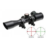"Truglo Tru-Brite Extreme Tactical Compact Rifle Scope with Rings - 4x32mm Dual Color Illum. Mil-Dot  4"" Matte"
