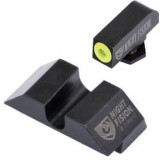 Night Fision Perfect Dot NS Set w/Yellow Front Dot + U Blank Rear for Glock 17-39