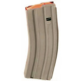 ASC AR Family Rifle Magazine Orange Follower .223 Remington Dark Earth Stainless Steel 30/rd