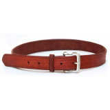 Tagua Basquet Weave Leather Belt Size 42 Brown
