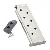 Chip McCormick Shooting Star M1911 Magazine w Pad .45 ACP Stainless Steel 8/rd