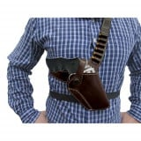 Hunting Series Chest Holster Fits S& W N Frame 4inch Brown R/H