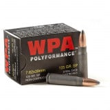 Wolf WPA Polyformance Rifle Ammunition 7.62x39mm 125 gr SP 2104 fps - 20/box
