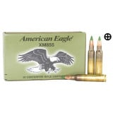 Federal American Eagle Rifle Ammunition Nato 5.56 62 gr Green Tip 20 Box