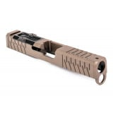 ZEV Technologies 4th Gen Z19 Stainless Steel Slide - Enhanced SOCOM w/RMR Optic Cut & Absolute Co-Witness Signature Cut with Flat Dark Earth (FDE) Coating