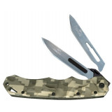 Havalon Piranta-Stag Game Knife with 6 Additional #60A SS Blades, Green Digital Camo