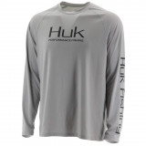 Huk Pursuit Vented LS Performance Knits Crew Mens