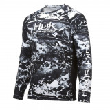 Huk Pursuit Camo Vented LS Performance Knits Crew Hydro Mens