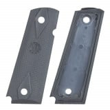 Hogue Colt Government Grips .45, 1911 Rubber Grips Panels, Checkered - Pewter