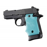 Hogue Rubber Grip with Finger Grooves for SIG Sauer P938 Ambi Safety-Aqua