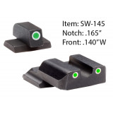 Ameriglo Classic Style Night Sight Set for S&W M&P Shield / Front Tritium - Green / Front Outline - White / Rear Tritium - Green / Rear Outline - White