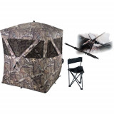 Ameristep Care Taker Combo HUB Style 2-Person Ground Blind with Chair and Gun Rest - Mossy Oak Infinity