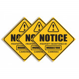 Moultrie Trail Camera Surveillance Signs (3-pack)