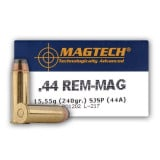 MagTech Handgun Ammunition .44 Mag 240 gr JSP 1180 fps 50/box