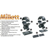 "Millett Angle-Loc Scope Rings & 1-Piece Base Set Browning A-Bolt 1"" Low, Smooth Black"