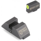 Night Fision Perfect Dot Off Student Gun Accur8 NS Set w/Yellow Frnt+Blk Sq for Glk17-39