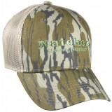 Natchez Logo Original Bottomland Camo Cap - Pro Mid Crown Mesh Back OSFM