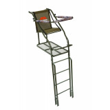 Millennium 21' Ladder Stand W Double-Size Platform & Safe-Link 35' Safety Line