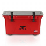 ORCA Cooler 26 QT. - Crimson with Grey Lid
