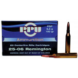 PPU Rifle Ammunition .25-06 Rem 100 gr PSP 3230 fps - 20/box