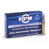 PPU Rifle Ammunition .300 Win Mag 180 gr SP 3250 fps - 20/box