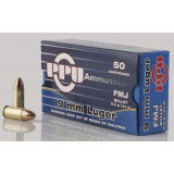 PPU Handgun Ammunition 9mm Luger  124 gr FMJ  50/box