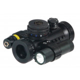 BSA Stealth Tactical Illuminated Sight w/Laser and Light - Red, Green & Black
