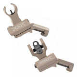 Troy 45-Degree Offset Sight Set - SSIG-45S-HRFT-00 - HK Front & Round Rear - Flat Dark Earth