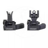 Troy 45-Degree Offset Sight Set - SSIG-45S-MDBT-00 - M4 Front & Dioptic Rear - Black