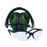 Caldwell E-MAX LoPro Electronic Muffs With Shooting Glasses