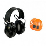 Peltor Sport Tactical Electronic Ear Muffs - Black & Orange Interchangeable Covers